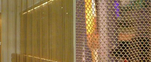 Mesh Curtain Panels : Stainless steel chain link mesh curtains and grilles