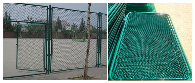 PVC Coated Chain Link Fence Gate