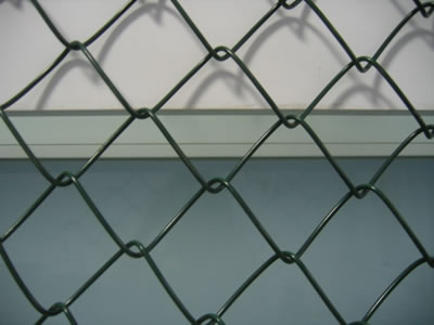 Green PVC Coated Chain Link Fence