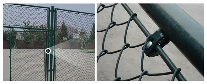 PVC Vinyl Coated Diamond Mesh Fence for Swimming Pool Uses to Protect Children Safety