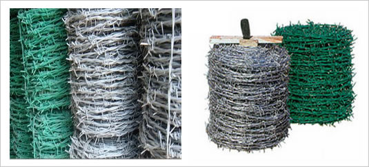 Coated Steel Barbed Wire for Fence Toppings