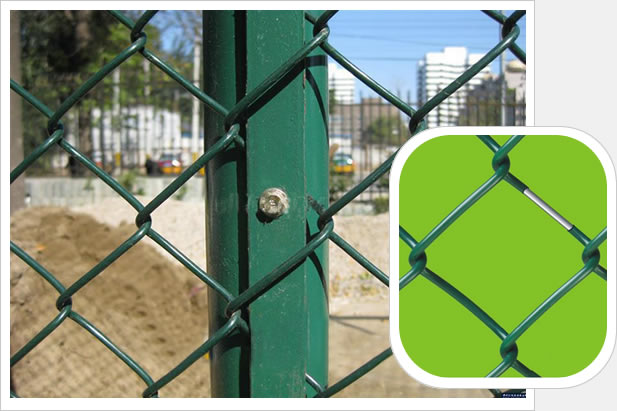 Green Coated Steel Perimeter Fence