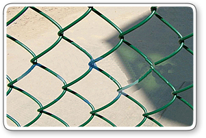 Plastic Coated Green Chain Link Fence
