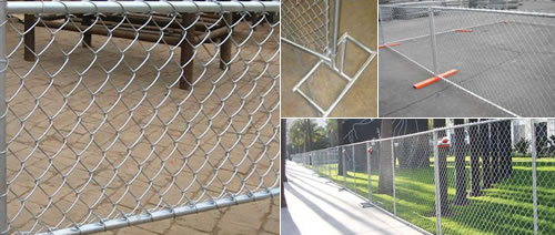 Chain link fence woven wire mesh security fencing system