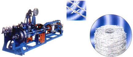 Barbed wire machine and products